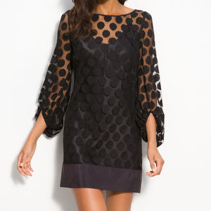 Laundry by Shelli Segal Polka Dot Lace Shift Dress